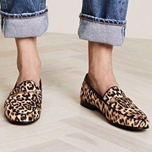 Sam Edelman Lior Calf Hair Leopard Loafers Sz 7.5